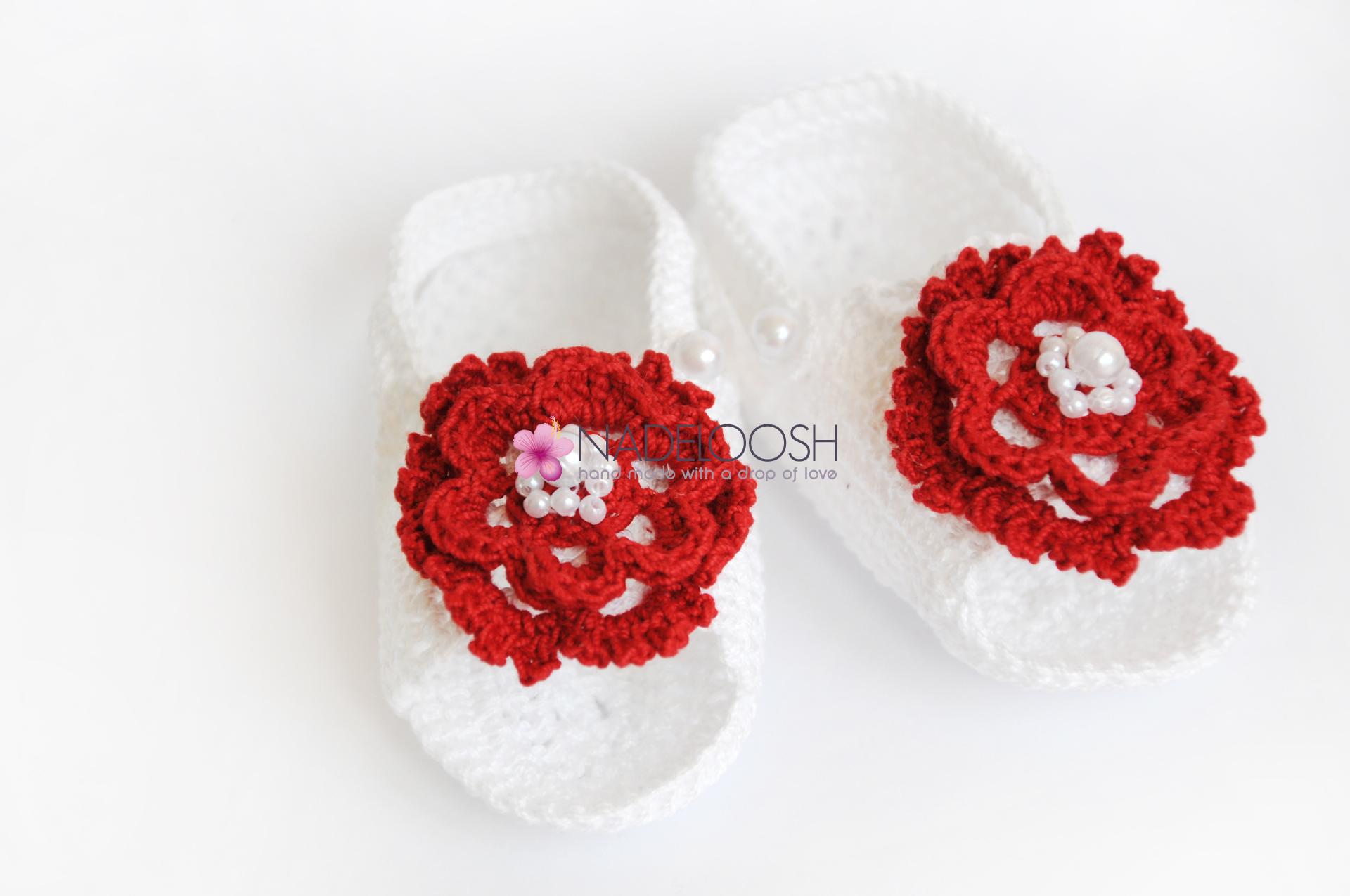 Sandalute crosetate pentru bebelusi Ariel